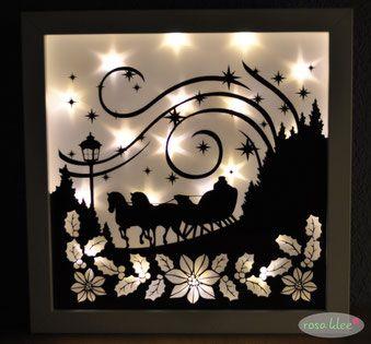 weihnachtliche leuchtrahmen winterlandschaft rahmen und. Black Bedroom Furniture Sets. Home Design Ideas