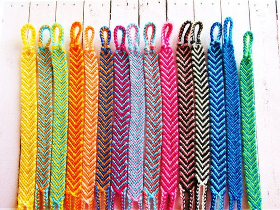 12218a924a178 Friendship Bracelet Brazilian Chevron Boho Hippie Choose your Color ...