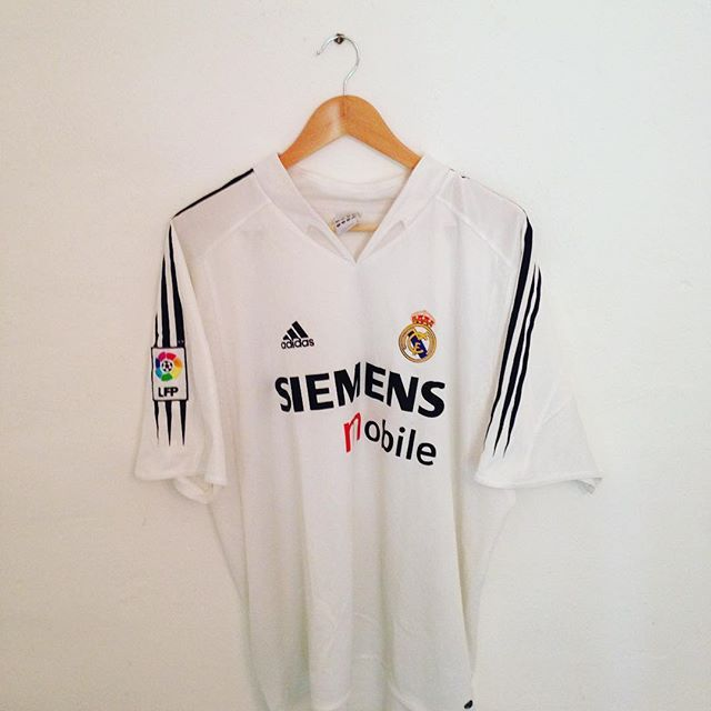 cfb113cd2 Galacticos era Real Madrid vintage Adidas home shirt from 2004 05 now  available to buy from our depop store - visit us at  rowenjn  depop  vintage   retro ...