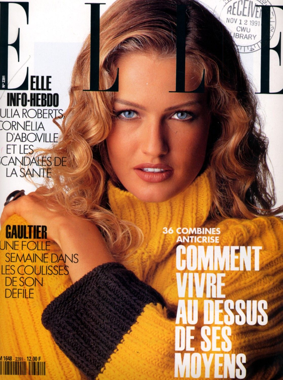 Karen Mulder  -  Elle France Nov 1991