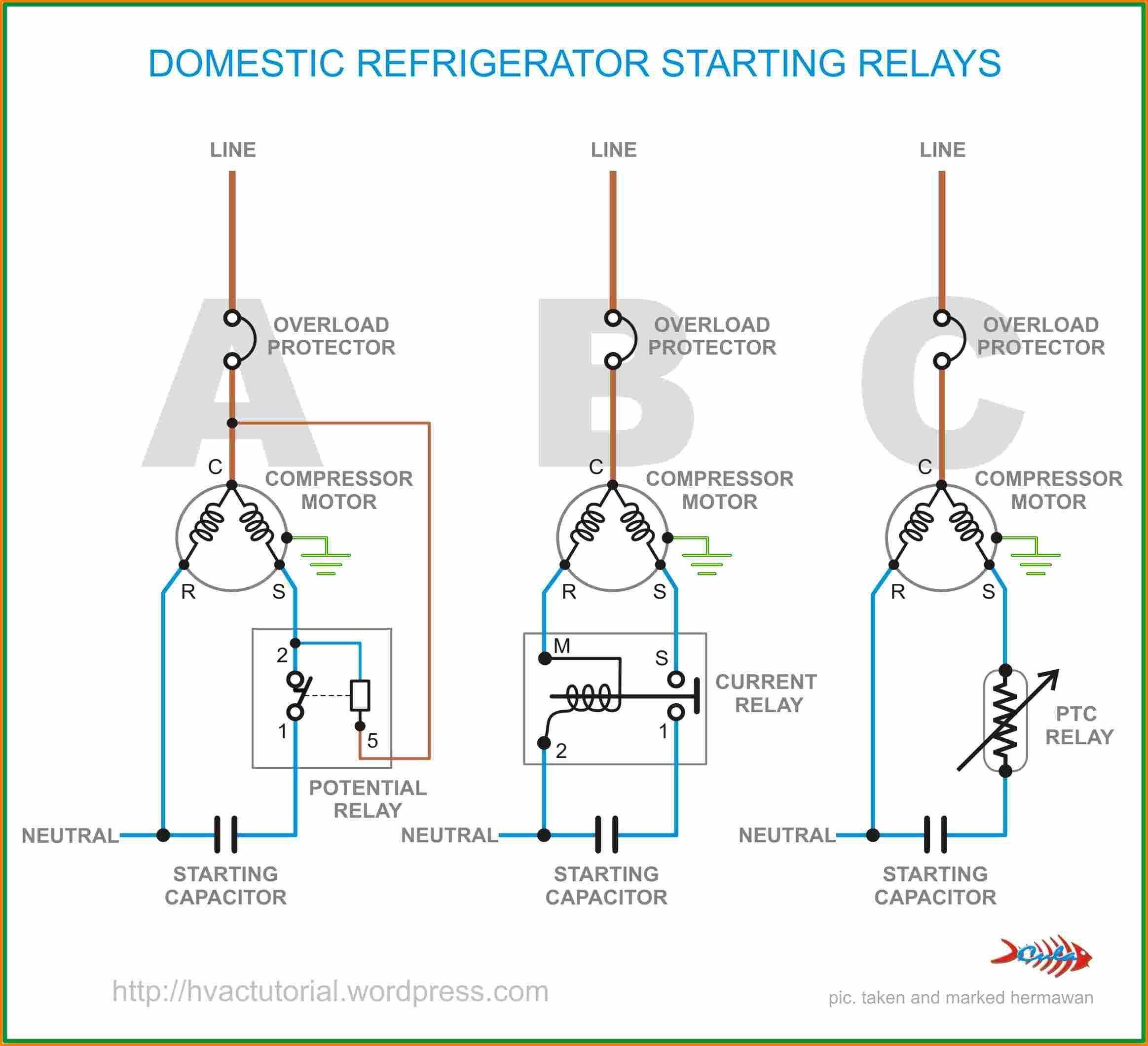 Unique Wiring Diagram For Ac Capacitor Refrigeration And Air