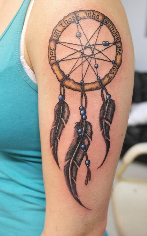 Dream Catcher With Names 40 Unique Dreamcatcher Tattoos with Images Dreamcatcher tattoos 3