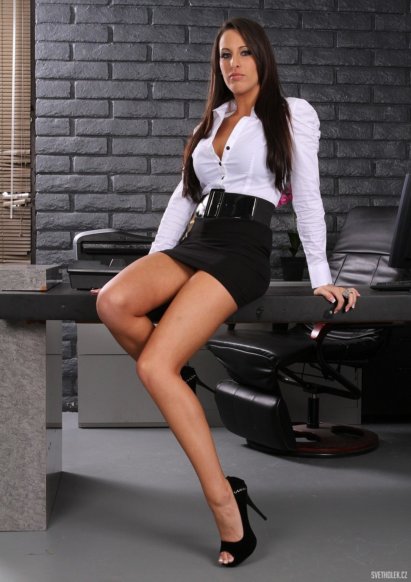 kortney kane office miniskirt 18 kortney kane pinterest. Black Bedroom Furniture Sets. Home Design Ideas