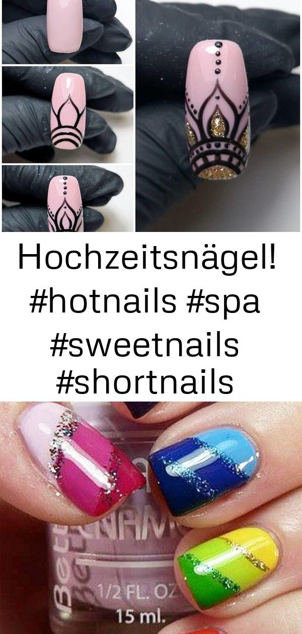 Hochzeitsnägel! #hotnails #spa #sweetnails #shortnails #nailartaddict – ongles
