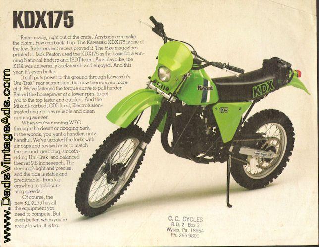 1981 Kawasaki KDX175 Motorcycle Brochure