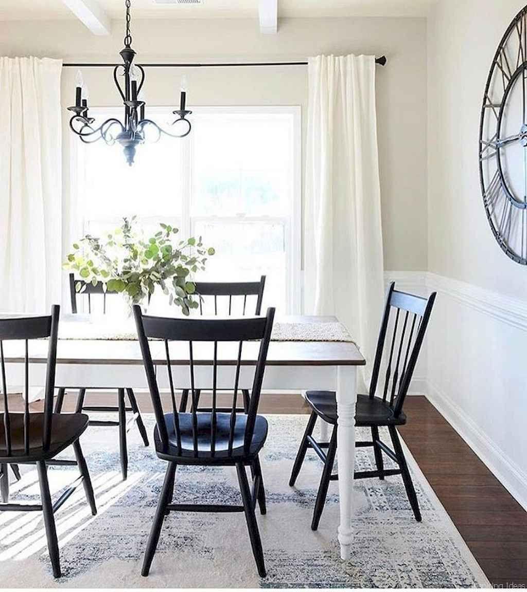 44 Stunning Farmhouse Style Dining Room Decorating Ideas ... on Farmhouse Dining Room Curtain Ideas  id=81694