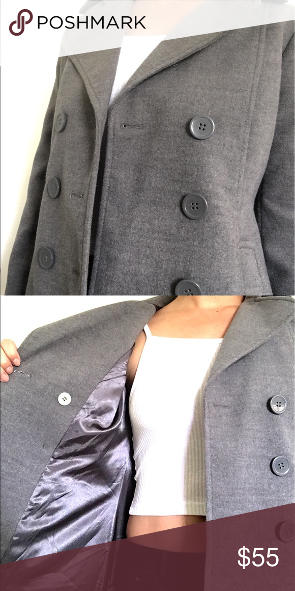 db22f7b4a01 NWOT BP for Nordstrom Grey Peacoat • NWOT BP (Brass Plum) for Nordstrom • 6  button peacoat • Satin inside • button inside • collar • beautiful and  perfect ...