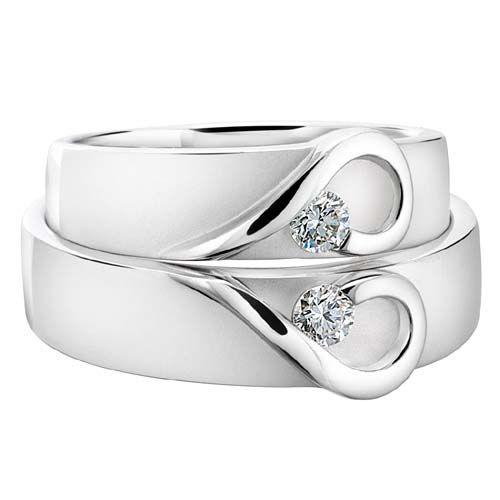 Couple Heart Wedding Band Wedding Heart Rings Ring Wedding Ring