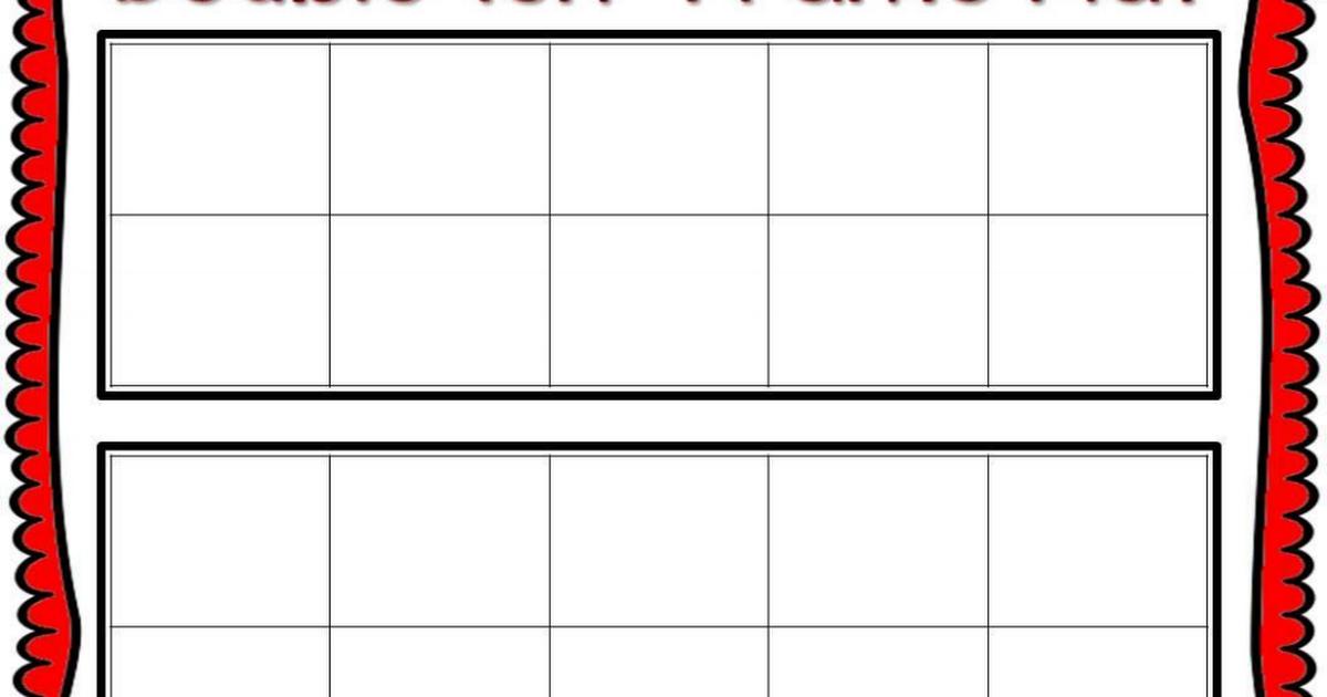 Double Ten Frame Mat.pdf | 2nd grade math | Pinterest | Ten frames ...