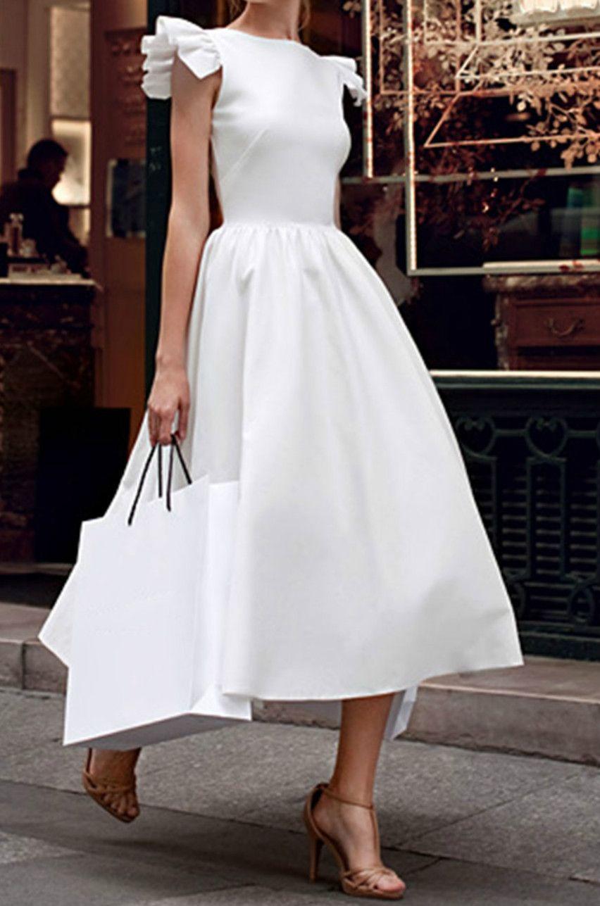 Elegant Sleeveless Ruffle A-line Party Dress - NOVASHE.com | Schick ...
