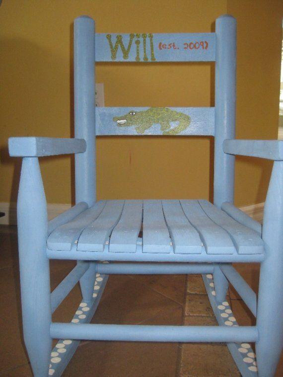 Alligator, Gator, Florida Toddler Rocking Chair