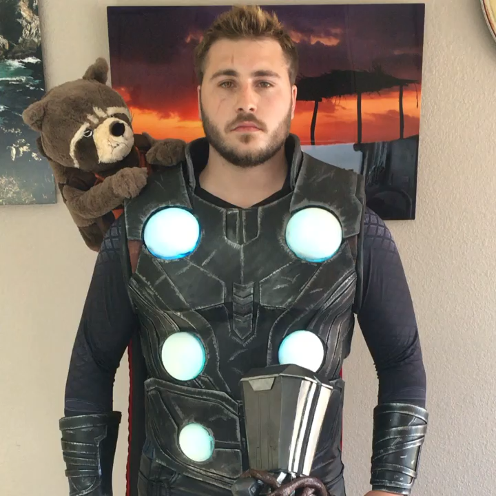 My Thor cosplay! Complete with Rabbit! (video) (With