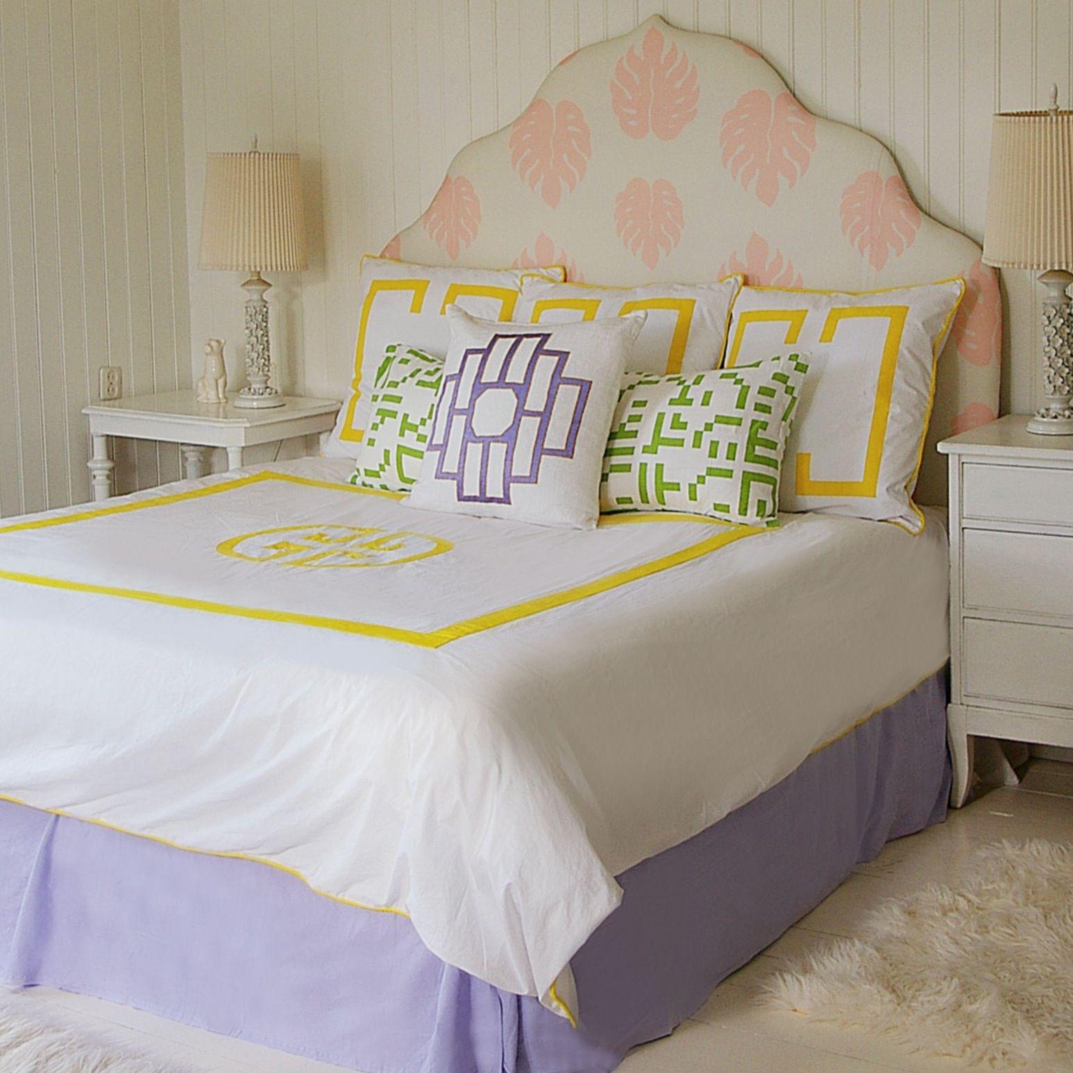 Yellow deco bedding from jill sorensen lifestyle