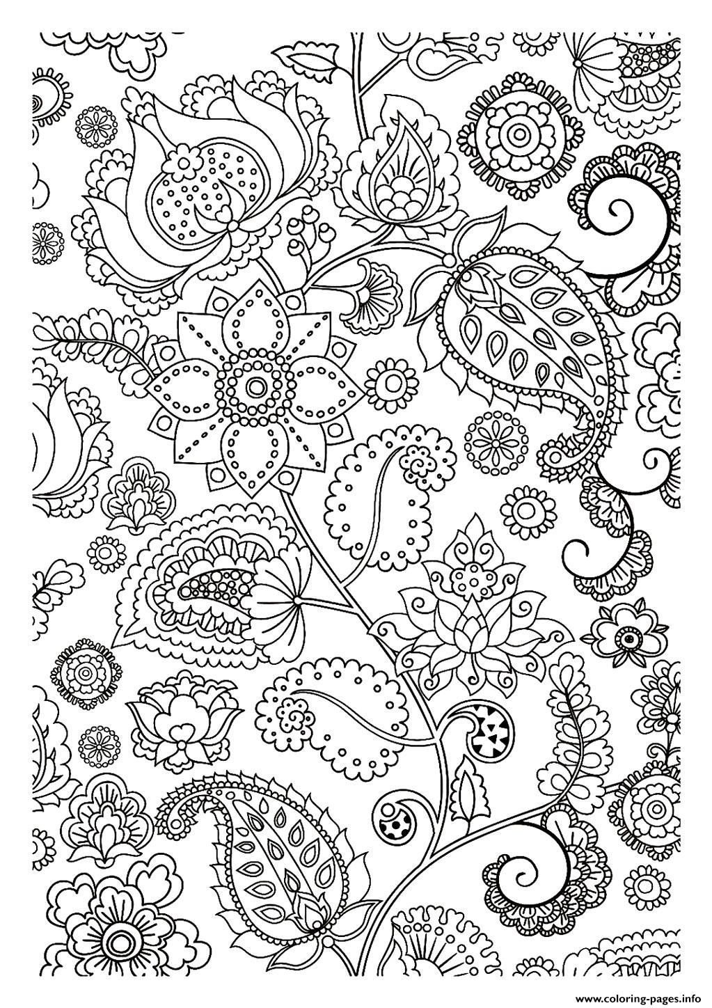 Zen coloring pages to print - Adult Flowers Zen Coloring Pages Printable And Coloring Book To Print For Free Find More Coloring Pages Online For Kids And Adults Of Adult Flowers Zen