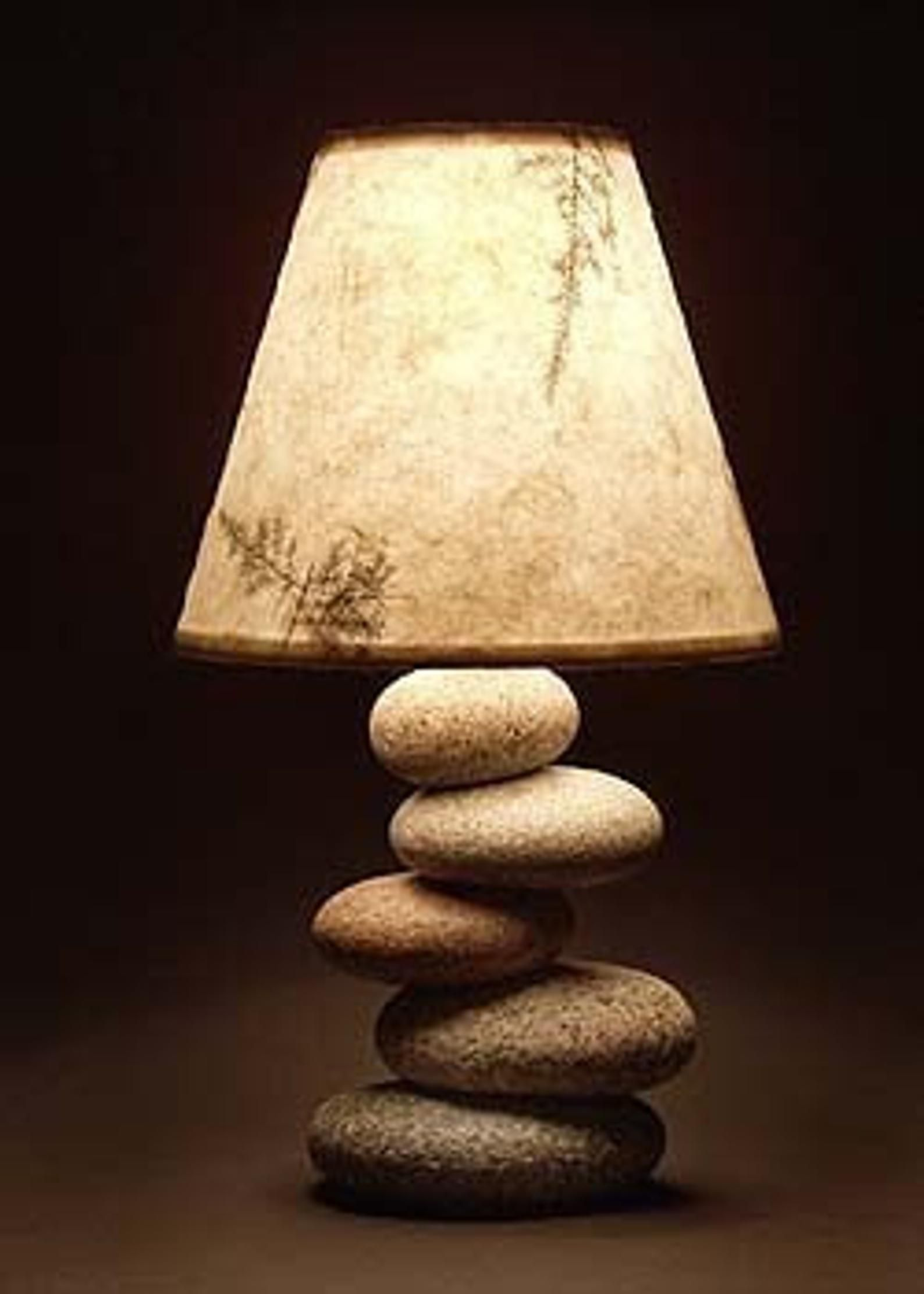 Balance rock lamp in 2020 rock lamp stone lamp rustic art