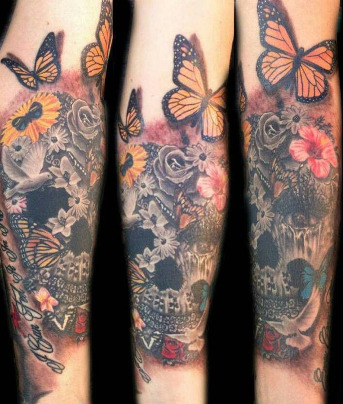 c0ce4c528 sleeve tattoo design your own. I love the addition of color mixed with the  grey scale. i want this. omg.