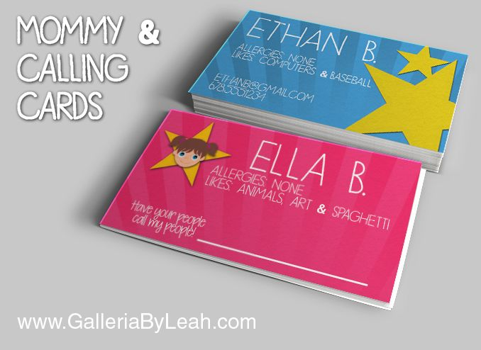 Kids business cards tiredriveeasy kids business cards colourmoves Gallery