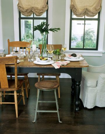 Gray Dining Room Rustic Details  Mismatched Chairs In Ohio New Farmhouse Dining Room Table And Chairs Review