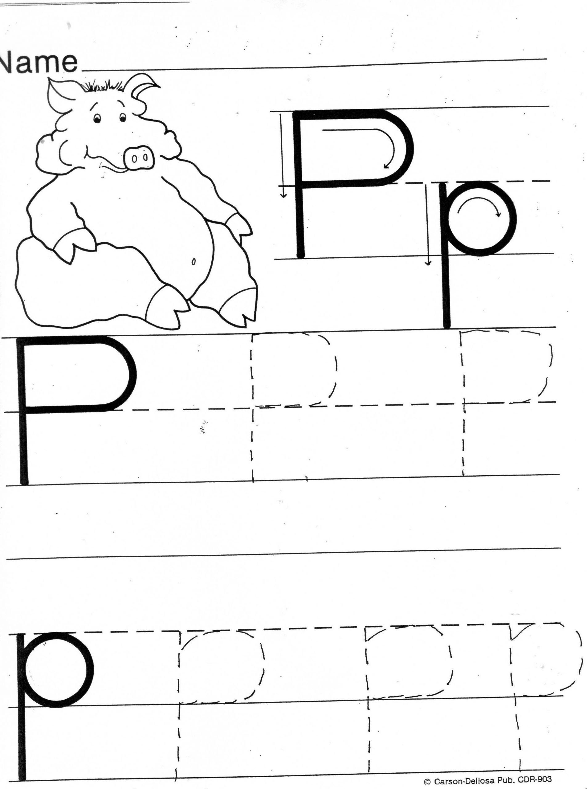 Letter P Tracing Worksheets Practice Sheets For Parents In