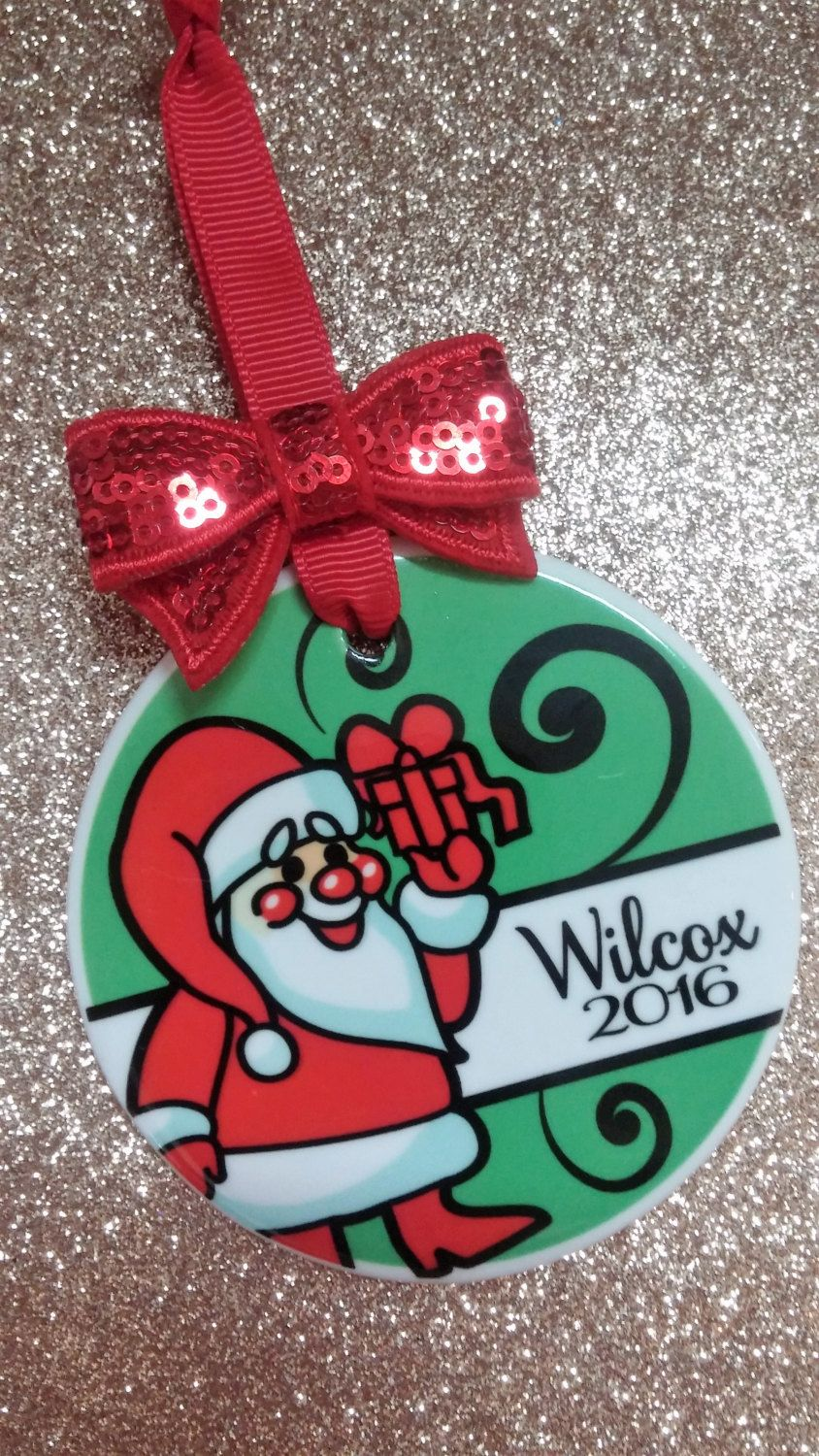 Custom Christmas Ornament Personalized w/ Name & Year