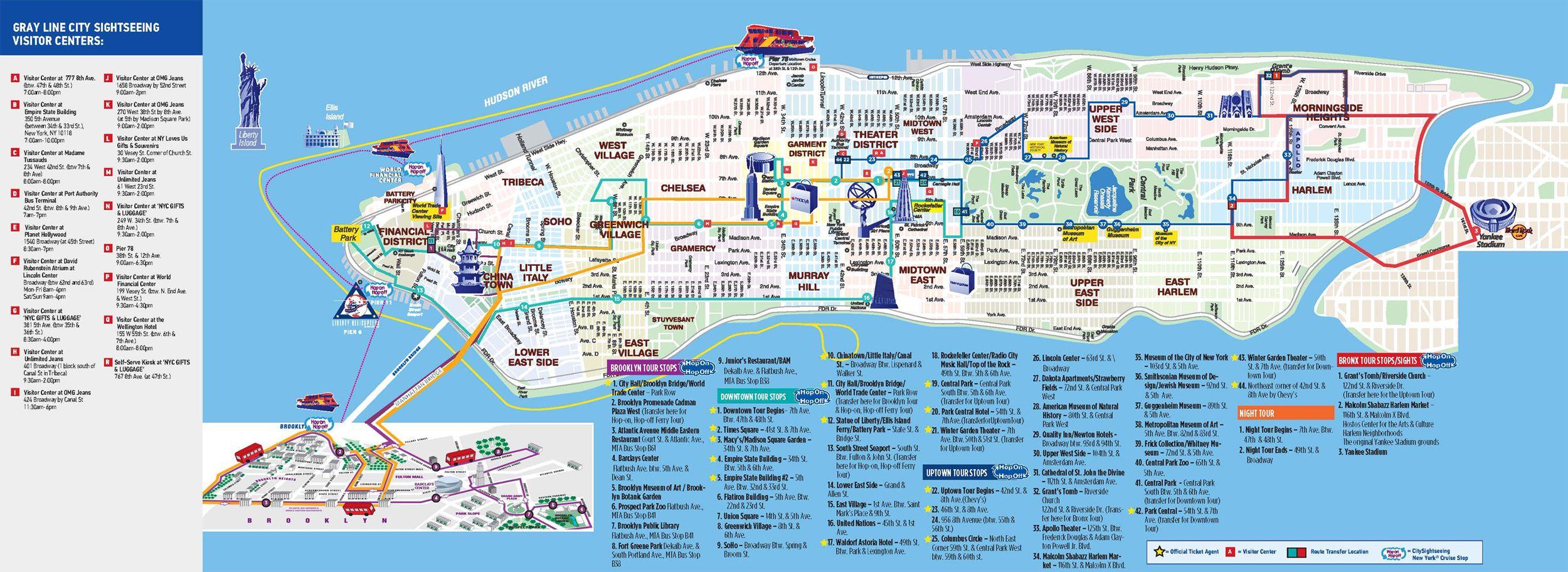 New York City Manhattan Printable Tourist Map Sygic Travel Map Of - Nyc zip code map pdf
