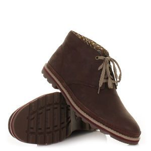 Mens caterpillar cormac mid coach lace up brown leather shoes boots size  6-12