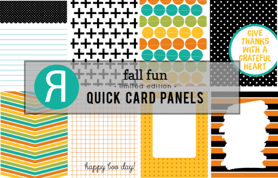 "Our Quick Card Panels are limited edition heavyweight cardstock panels measuring 3.25″ x 4.5.""  These are the perfect (and easy!) addition to your A2 cards, as well as your scrapbook pages (including pocket pages), home decor projects and all your other paper crafting projects!  Use them full size or cut them down and layer them"