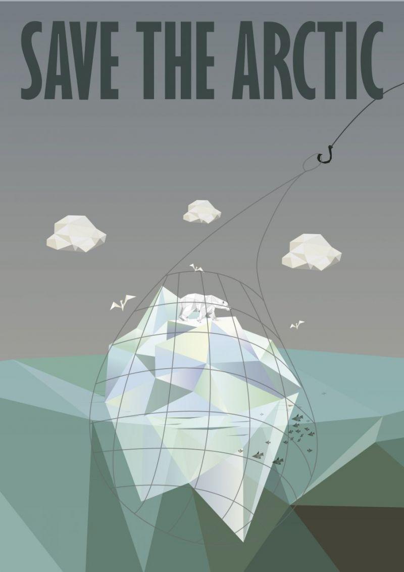 Poster design w graff - Poster Contest Save The Arctic