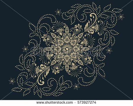 Henna Mehndi Vector : Vector illustration of mehndi ornament. traditional indian style