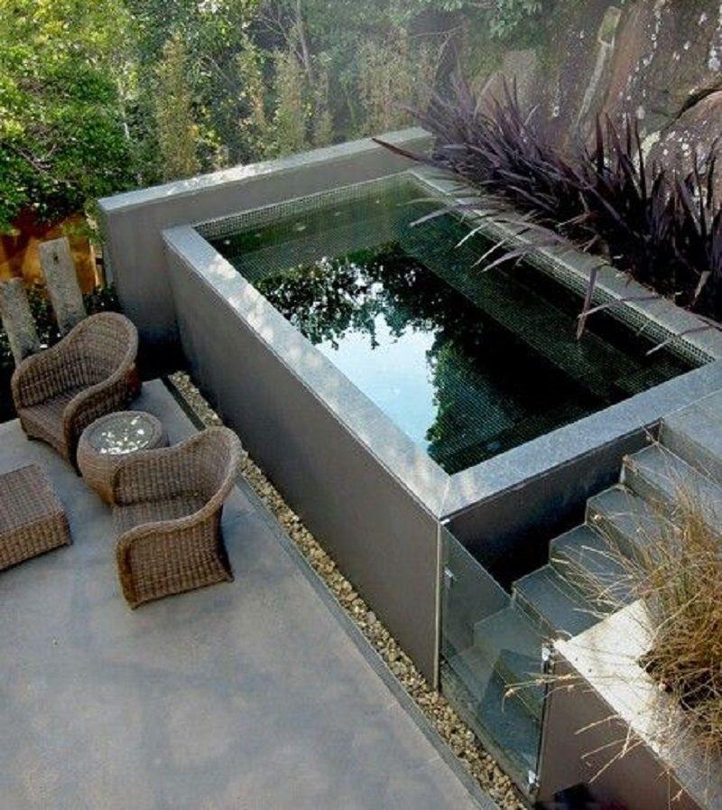 Jardin peque o alargado ideas buscar con google jardin for Jardines pequenos con piscina