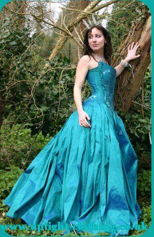 amazing custom dress with corset top  alternative wedding