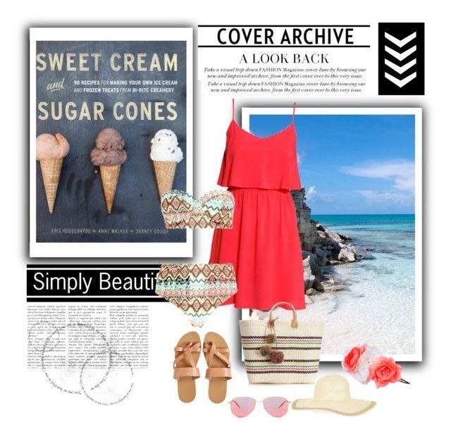 """Bikini & coral dress"" by gabriela2105 on Polyvore"