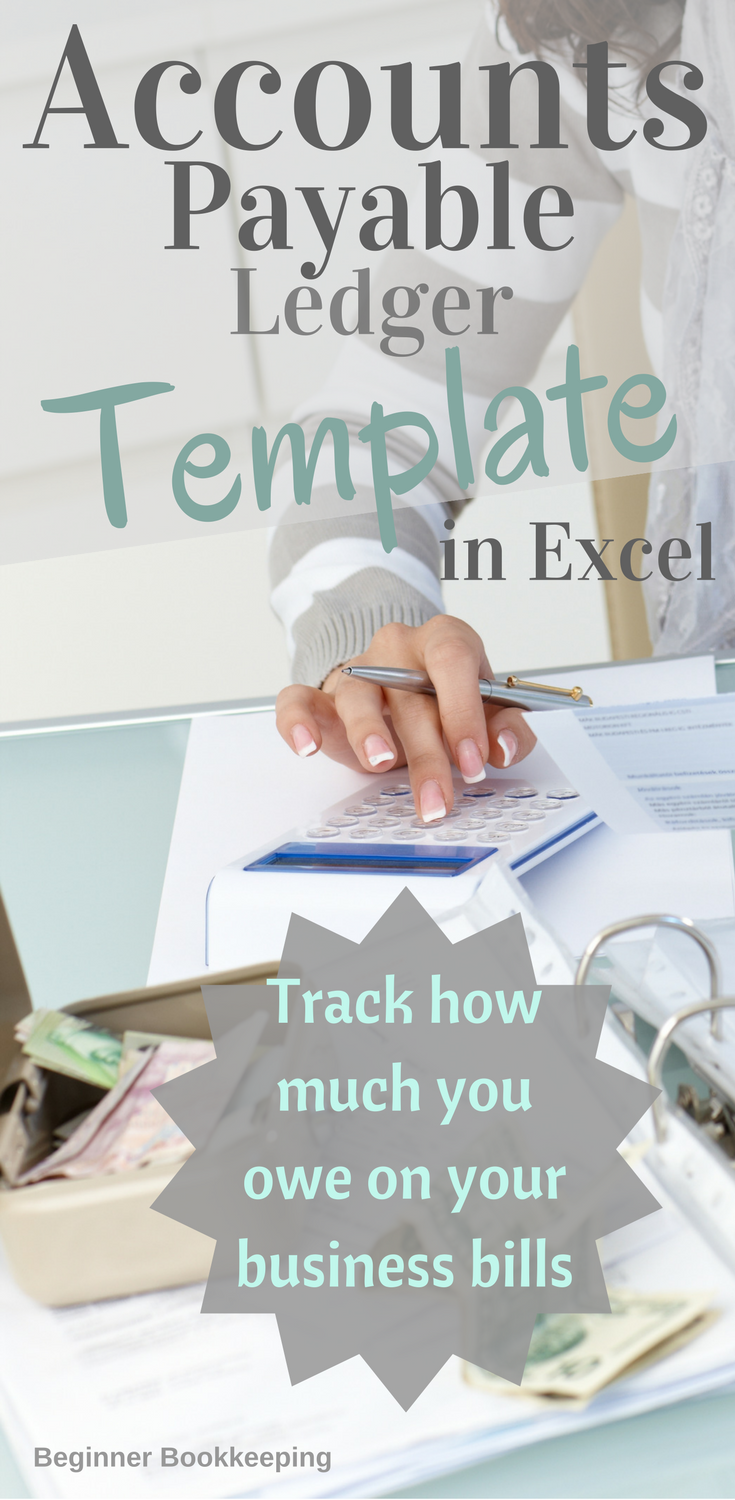 microsoft excel in business  microsoft excel business templates     accounts payable template ledger in microsoft excel to help you track how  much you owe your