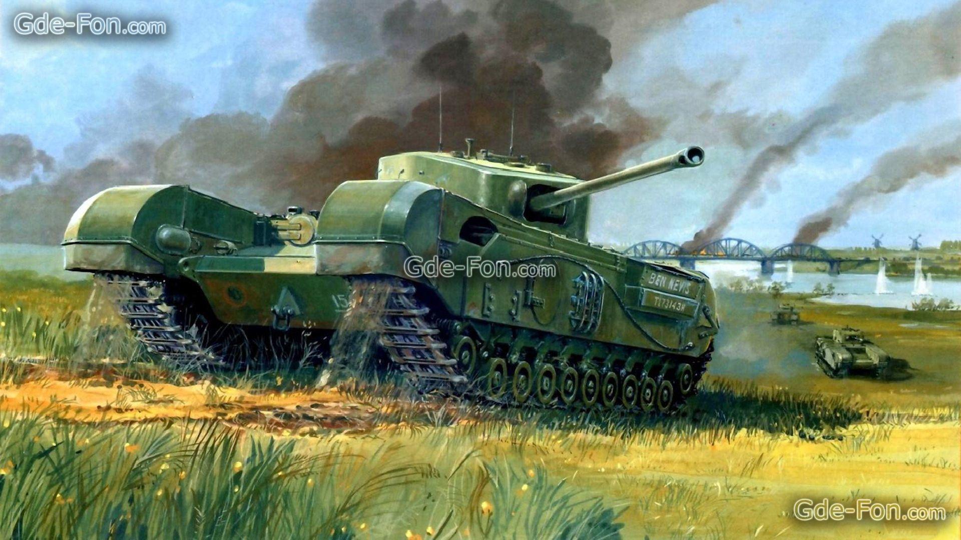 Download Wallpaper Churchill Tank Infantry Tank Bridge