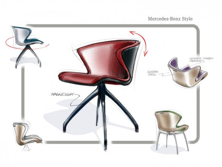 Product Sketch Mercedes Benz Unveils Furniture Collection