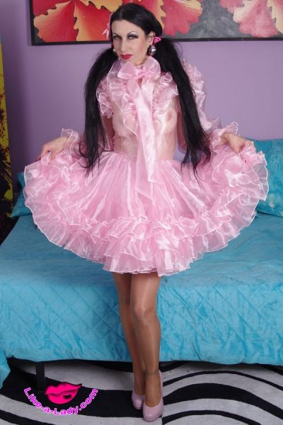 Silk transvestite gowns