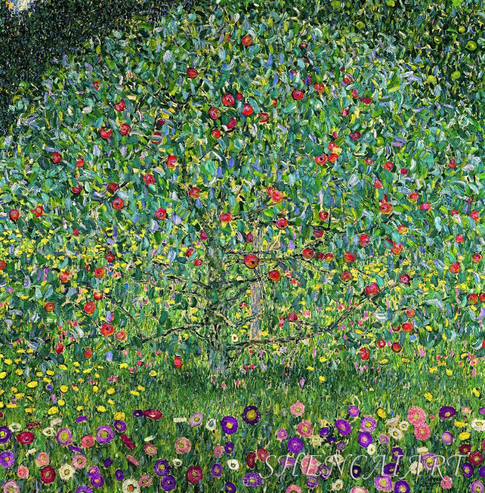 Zz1597 Wall Art Decoration Painting Gustav Klimt Big Tree: Pointillisme - Google Zoeken
