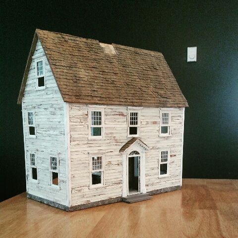 Weathered Cardboard Siding General Mini Talk The Greenleaf Miniature Community In 2020 Cardboard House Miniature Houses Best Doll House