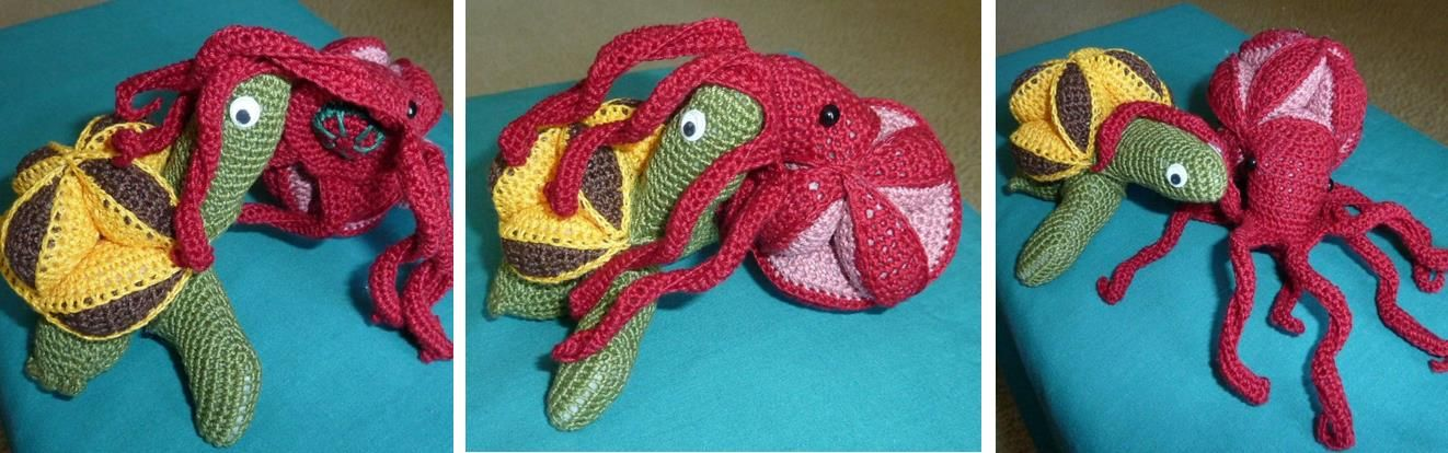 Crochet Octopus and Turtle Puzzle, this is cool, want to make this one day