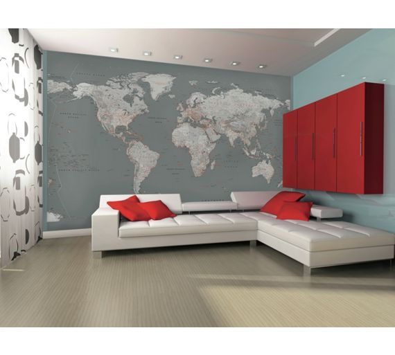 Buy 1wall silver map giant mural at argos visit argos buy 1wall silver map giant mural at argos visit argos to shop online for murals and wall stickers wallpaper painting and decorating gumiabroncs Choice Image