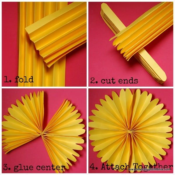 Flower Wall and Paper Pinwheel Tutorial #constructionpaperflowers