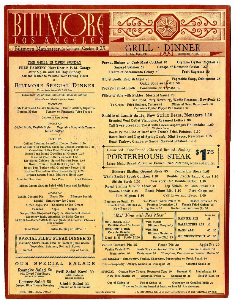 Art Of The Menu A Vintage Collection Vintage Menu Vintage Restaurant Diner Menu
