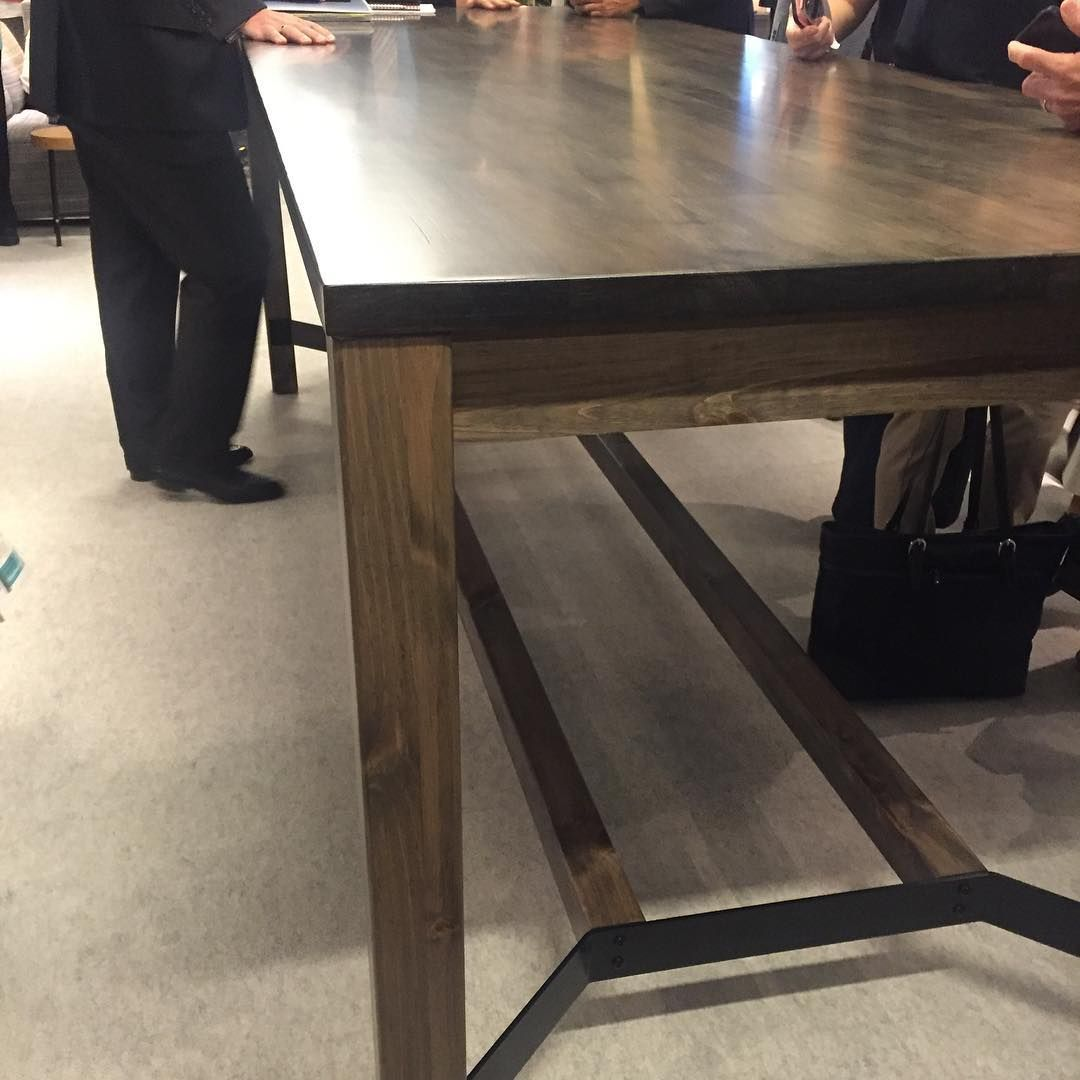 @allsteel Rustic Harvest Table ##new #workplacesolutions #neoconography  #neocon2016 Harvest Tables