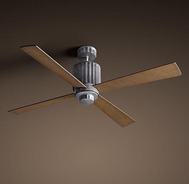 Earhart Ceiling Fan 52 Quot Distressed Aluminum Fan Theo
