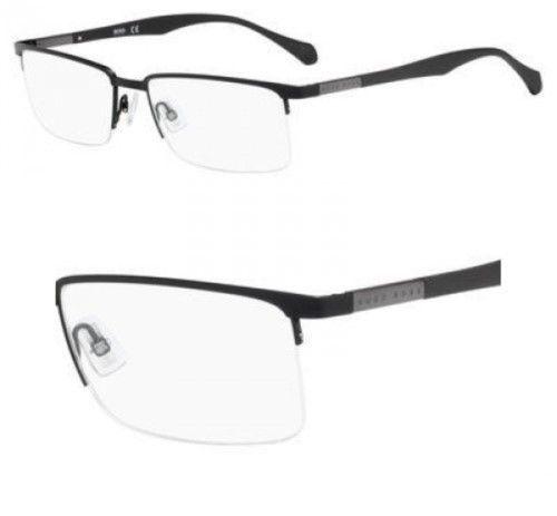 HUGO BOSS 0829 YZ2 Eyeglasses Matte Black Frame 55mm | Optical ...