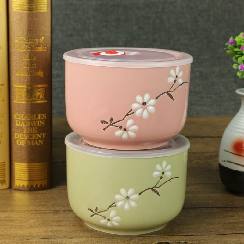 Aliexpress Com Buy 1pc 5 Inch Ceramic Bowl With Lid Sealed Fresh Creative Lunch Box Snack Bowl From Reliab Creative Lunch Box Snack Bowls Lunch Box Snacks