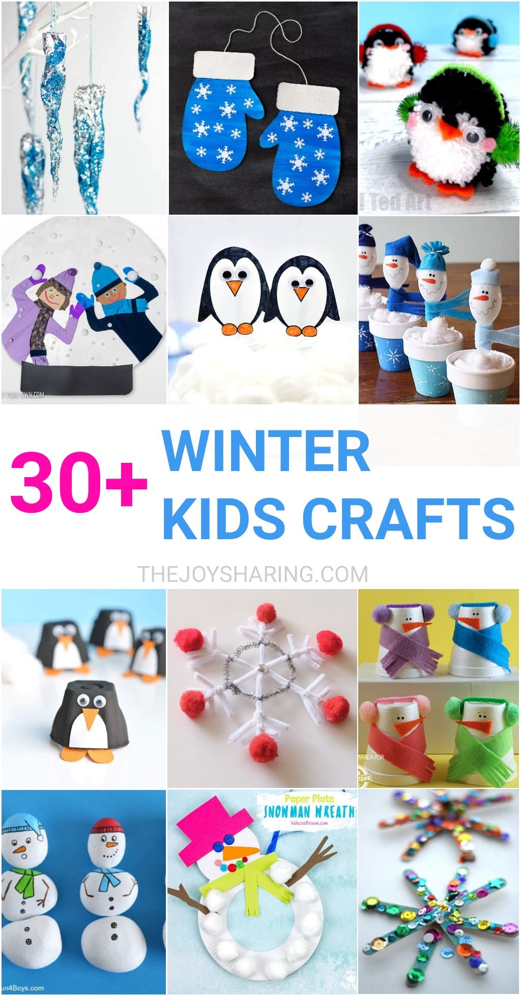 30 Easy Winter Crafts For Kids