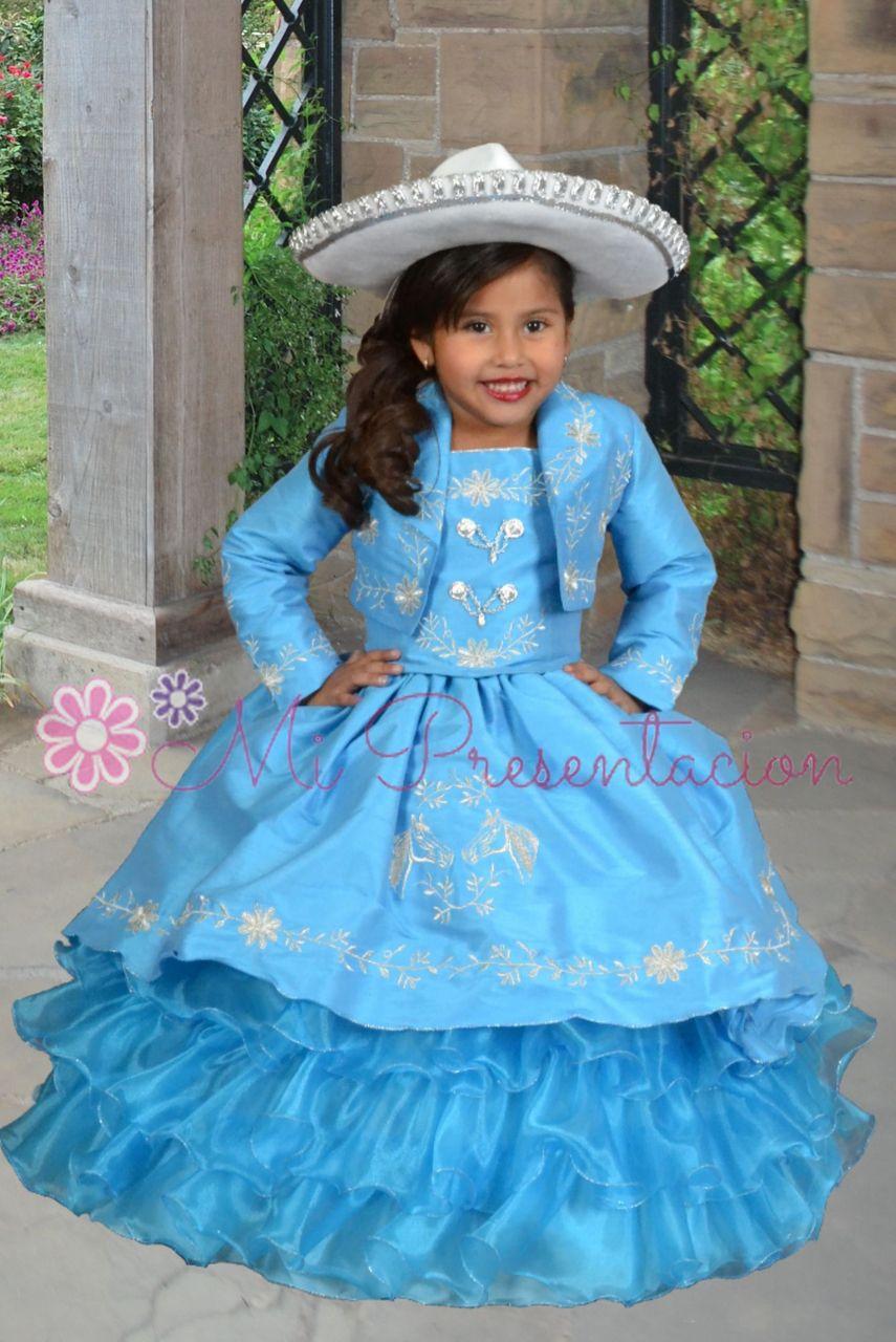 Flower girl vestido de charra #fgd024tq | Vestidos, Flor y Chicas