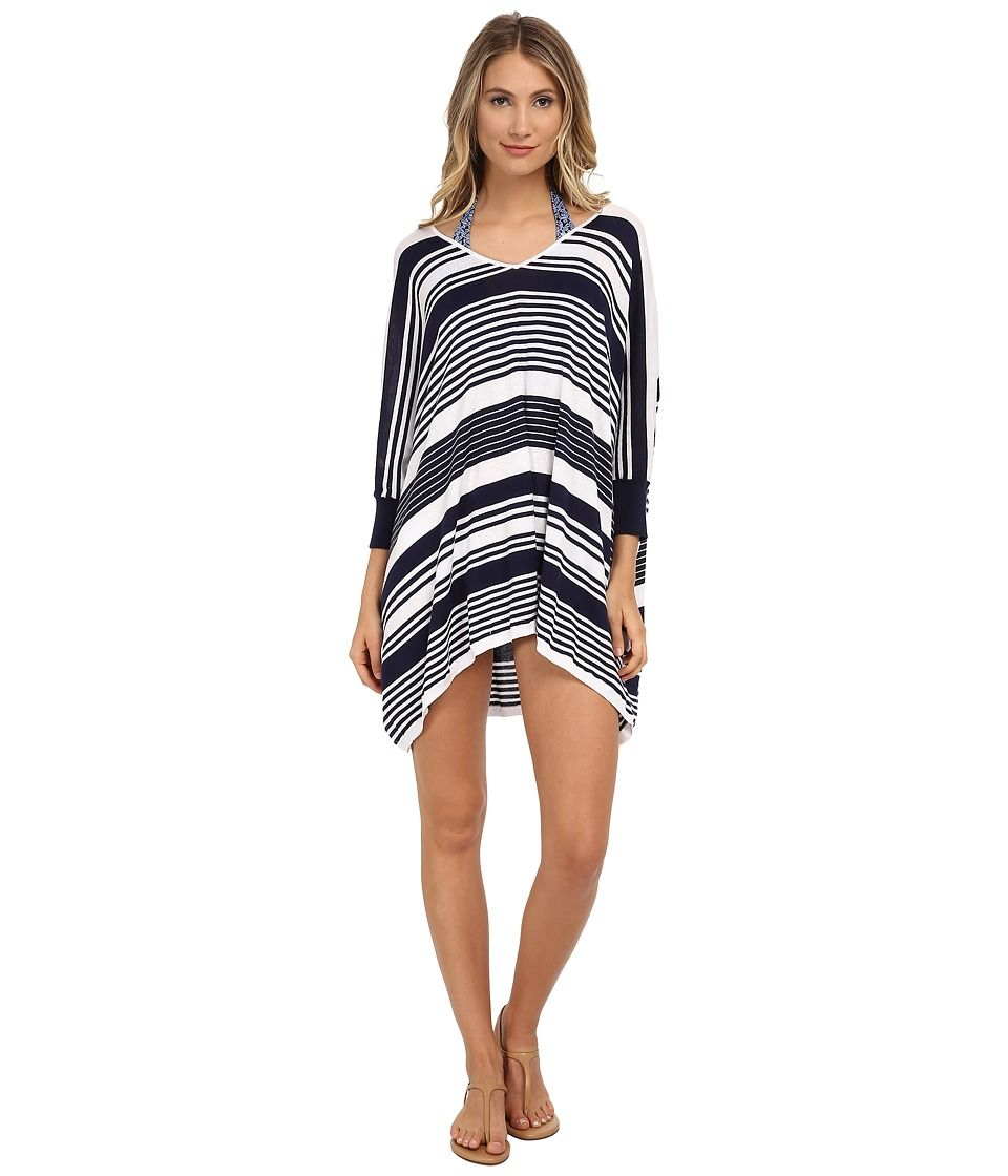 d0999ae079 TOMMY BAHAMA TOMMY BAHAMA - HIGH LOW STRIPED BEACH SWEATER COVER-UP (MARE  NAVY WHITE) WOMEN S SWEATER.  tommybahama  cloth