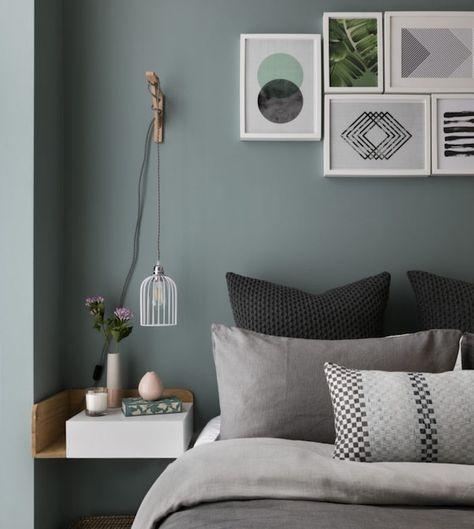 id e quelle couleur avec le gris mur vert de gris et. Black Bedroom Furniture Sets. Home Design Ideas